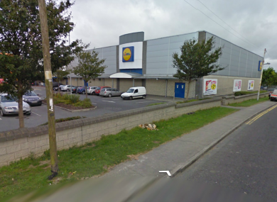 The incident happened in Lidl on the Malahide Road in north Dublin,