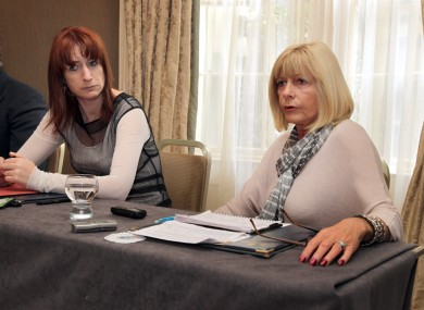Deputy Clare Daly with Theresa Tinggal of Illegally Adopted Ireland.