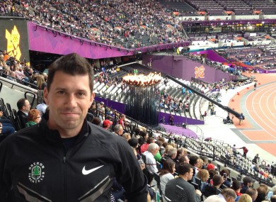 Dr Brian Moore at London's Olympic Stadium last summer.