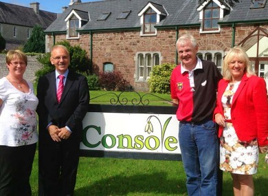 Members of Console with Donal Walsh's parents, Elma and Finbarr.