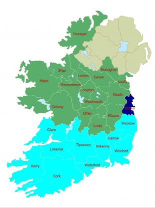 The new-look European constituencies.