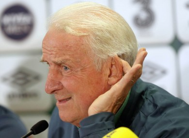 If there are calls for Giovanni Trapattoni to step down, the Ireland boss isn't listening.