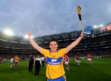 Conlon celebrates Saturday's All-Ireland win against Cork.