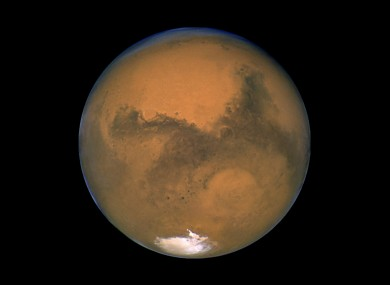 A 2003 image of Mars taken by the Hubble Space Telescope.