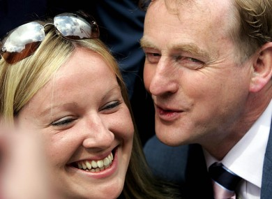 Enda Kenny with Lucinda Creighton in happier times.