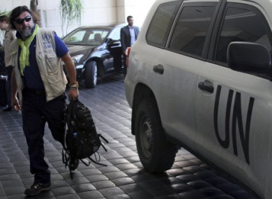 A file image of a UN weapons inspector in Syria