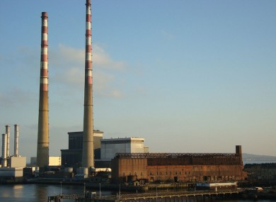 The Poolbeg power station in Dublin, close to where the incinerator will be located.