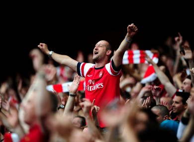 A happy Arsenal fan (this is a real photo).