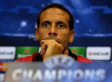 Rio Ferdinand speaks during a recent press conference.