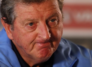 England manager Roy Hodgson pictured at a recent press conference.