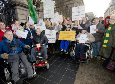 Carers protest after last year's Budget