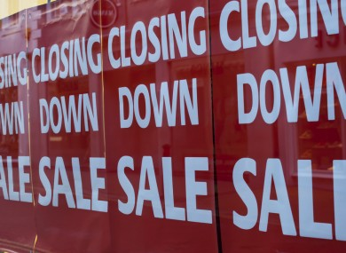 A high street store that is closing down