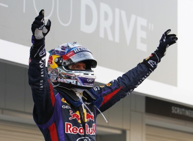 The 26-year-old Vettel is now a four-time world champion.