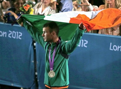 Nevin: the only Irish male to medal at all four major tournaments.