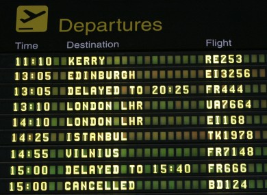 Knock airport numbers up