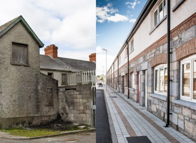 Before and after shots of St Michael's Road.