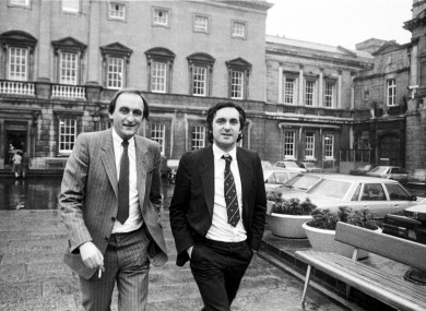 Seán Barrett and a young Bertie Ahern in 1983