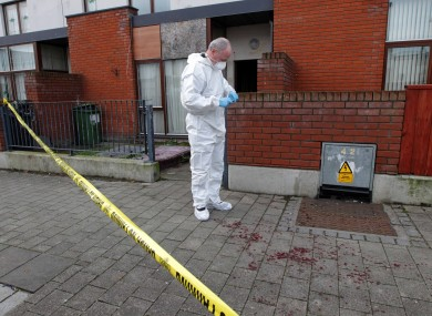 The scene of the stabbing on Monday