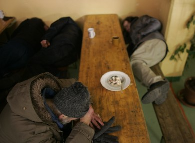 People in a homeless hostel (File photo)