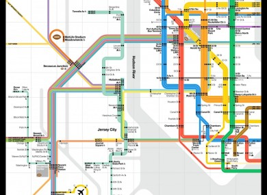 Brand New Subway Map.They Ve Made A Brand New Nyc Subway Map For The Super Bowl The42