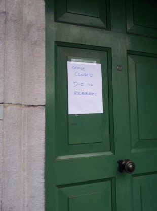 The post office is closed today following the robbery