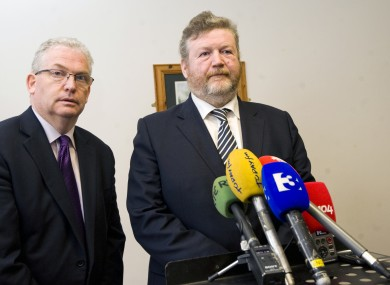 HSE Director General Tony O'Brien and Health Minister James Reilly