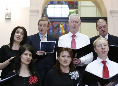 Enda Kenny and others singing Christmas carols at Government Buildings this week