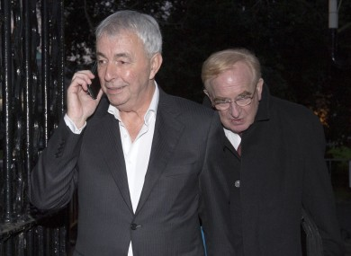 Former CRC CEO Paul Kiely followed by now former chairman James Nugent at Leinster House last month.