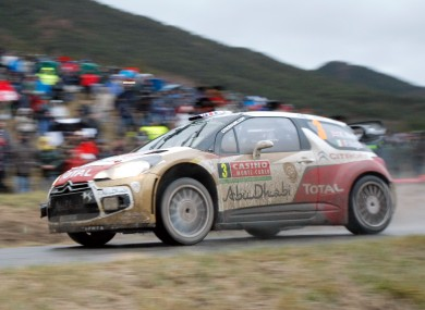 Kris Meeke in action at the Monte Carlo Rally.