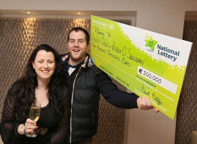 Lauren Doyle and Patrick O'Sullivan, from Dublin, who scooped the €100k