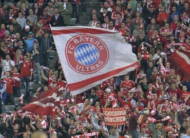 Bayern fans.