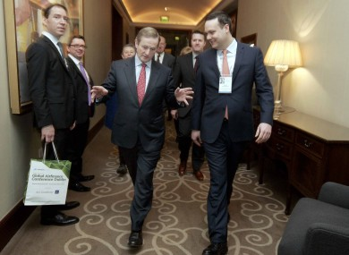 Enda Kenny making his point at the Global Airfinance Conference in Dublin this week