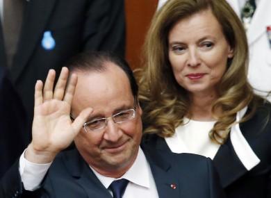 President Francois Hollande pictured alongside Valerie Trierweiler in June