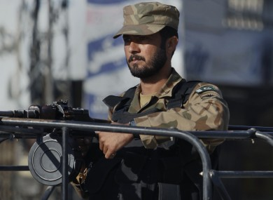 A Pakistan army soldier on patrol last year
