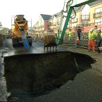 Sinkhole in Tramore, Co. Waterford