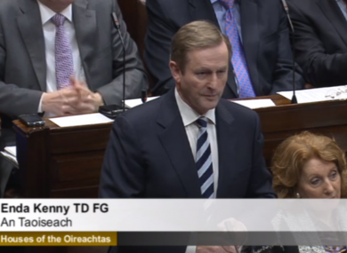 Enda Kenny back in the Dáil this afternoon