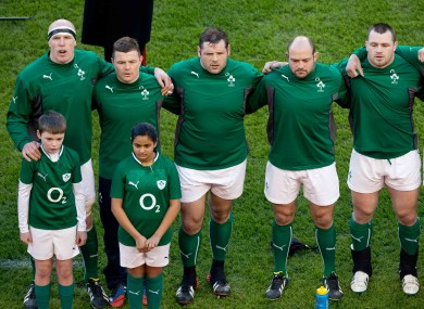 Best [second from right] was superb for Ireland in victory over Wales.