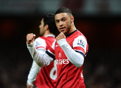 Oxlade-Chamberlain at the final whistle.