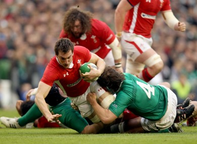 Sam Warburton in action for Wales against Ireland in 2012.