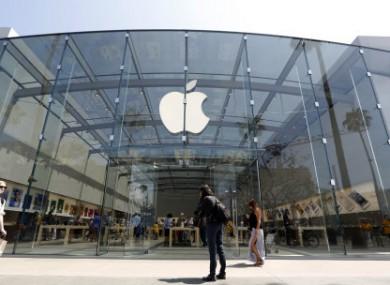 The Apple store in Santa Monica, California.