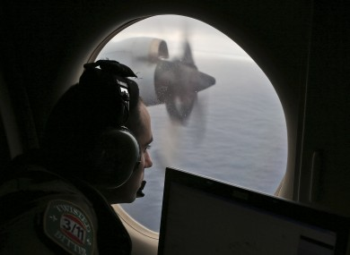 Flight officer Rayan Gharazeddine on board a Royal Australian Air Force AP-3C Orion, searches for the missing Malaysia Airlines Flight MH370 in southern Indian Ocean