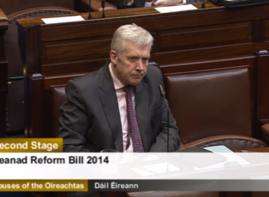 Fergus O'Dowd spoke for the government in the Dáil today.