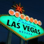 The famous 'Welcome to Fabulous Las Vegas' sign lights up green for Ireland's national holiday. <span class=