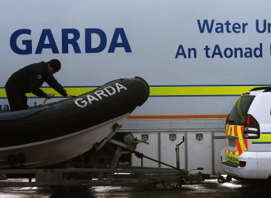 Garda Water Unit team out searching today.