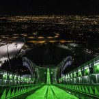 The famous Holmenkollen ski jump in Oslo, Norway.<span class=
