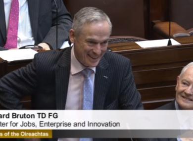 Richard Bruton in the Dáil earlier