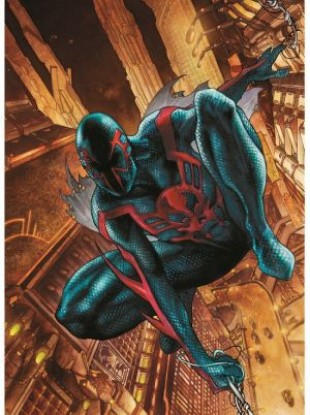 The original cover of Spider-Man 2099 by Simone Bianchi