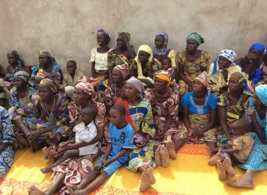 Women who survived a Boko haram attack in January of this year in Yola, Nigeria