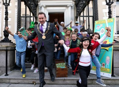 Lord Mayor of Dublin Oisín Quinn launching a reading initiative at the Mansion House.