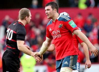 O'Mahony's last appearance in Munster colours was on the 19th of January against Edinburgh.